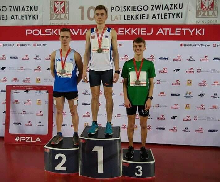 Michał Pytel Torun Halowe Mistrzostwa Polski I miejsce 2000m